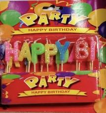 Tortenkerzen Happy Birthday