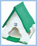 Vogelhaus Birdie weiss/grün