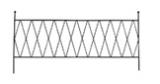 Balkonspalier Cara(für Balkonkästen mit der Länge 80cm) schwarz