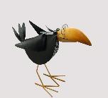 Dekofigur Rabe schwarz