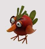 Dekofigur Vogel wippend bunt