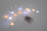 Micro Batterielichterkette mit 20 LED, green, L190cmmit 6 Stunden Timer 2xAA Batterien (nicht im Lieferumfang enthalten)