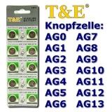 AG3 Knopfzellen T&E 10er Streifen