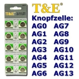 AG13 Knopfzellen T&E 10er Streifen