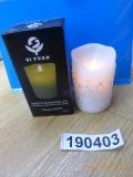 LED Kerze Schneeflocken 11,5cm