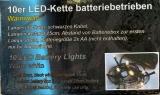 10er LED Lichterkette batteriebetr. warm weiss