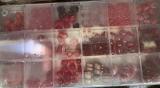 Glasperlensortiment rot