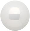 Kugel Glas 6 cm , Silber glanz/weiß matt