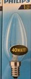 Glühbirne E14 Kerze klar 40 Watt Philips