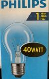 Glühbirne E27 Kugel matt 40 Watt Philips
