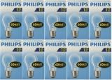 Glühbirne E27 60 Watt klar Philips