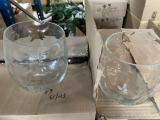 Glasvase transparent bauchig/klein