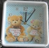 Wanduhr Kinder Bären