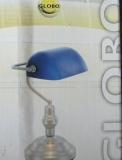 Tischlampe Blau Glas