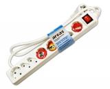 Steckdosenleiste 8-fach mit Schalter